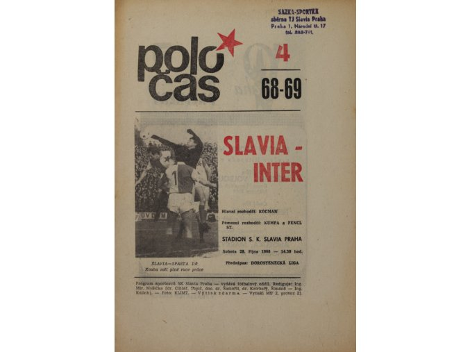 Poločas Slavia vs. Inter Bratislava , 1968v (4)