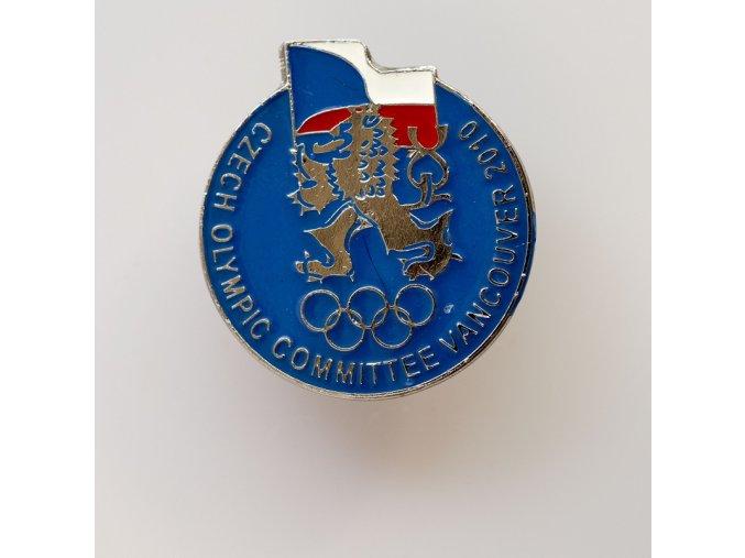 Odznak Czech olympic committee Vancoucer 2010