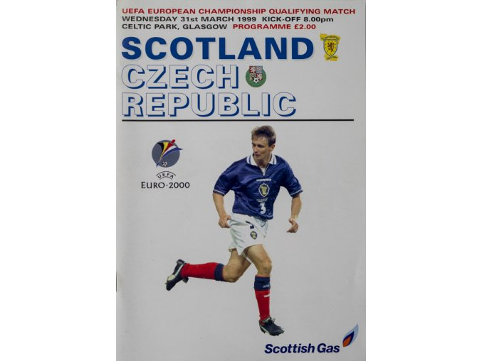 Program fotbal , Scotland v. Czech republic, 1999