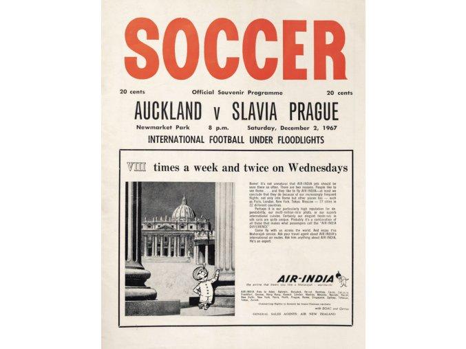 Program Soccer, Aucland v. Slavia Prague, 1967 (1)