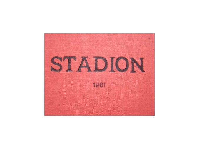 Kompletní svázaný časopis Stadion rok 1961 v tvrdé plátěné vazbě