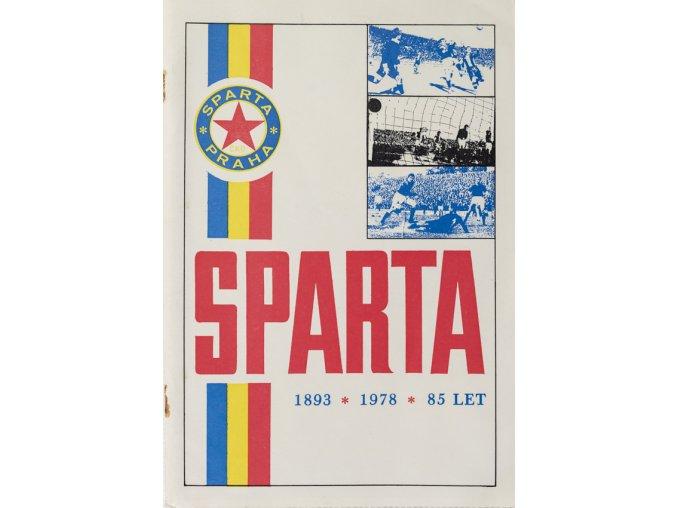 Ročenka SPARTA 1893 1978 KOPANÁ 85 let, 1981 (2)