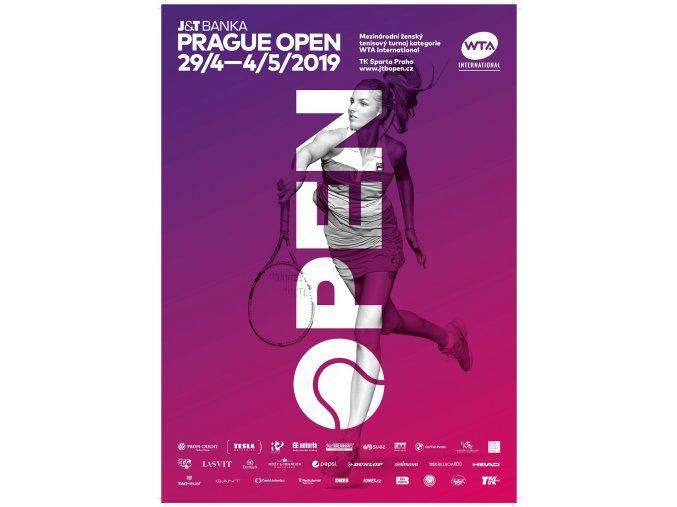 22Oficiální plakát WTA 2019, Praha Stránka 1
