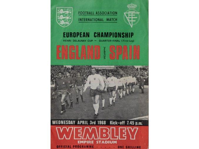 Program England v.Spain, 1968 (1)