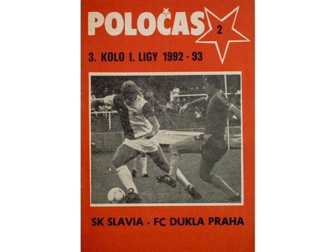 POLOČAS SLAVIA Praha vs. Dukla Praha, 1992 93