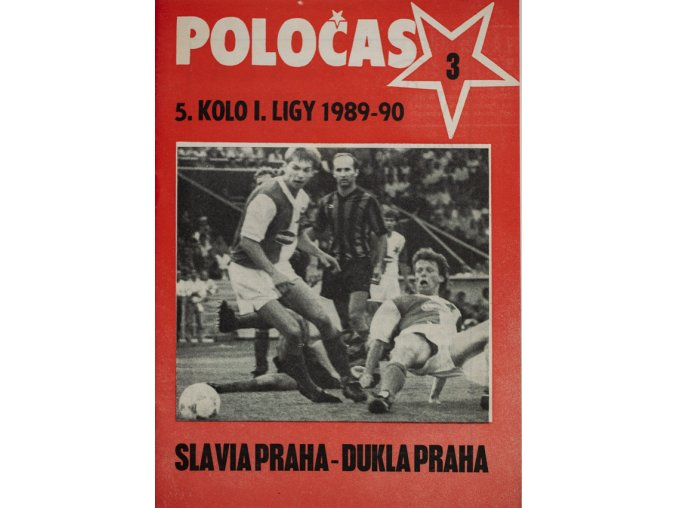 POLOČAS SLAVIA Praha vs. Dukla Praha, 1989 90