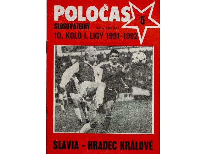 POLOČAS SLAVIA Praha vs. Hradec Králové 1991 92