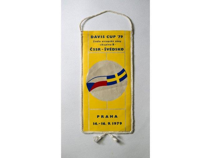 Vlajka klubová DAVIS CUP 1979 ČSSR vs. Švédsko 2