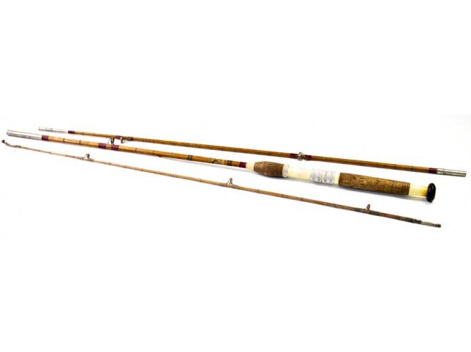 Rybářský prut, bambus, třídílný