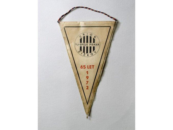 Vlajka klubová SK SLAVIA UNION Spoje Žižkov 1972