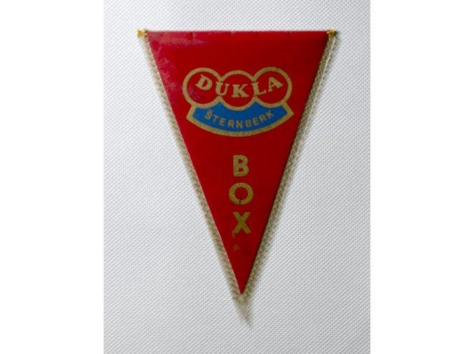 Klubová vlajka DUKLA PRAHA BOX 1977