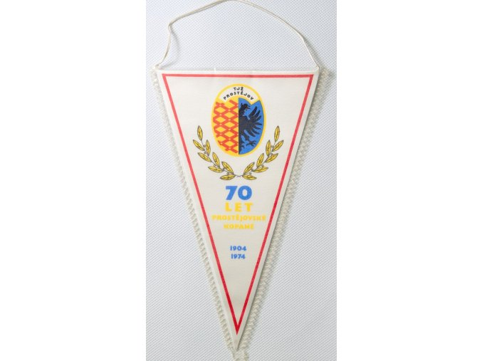 Klubová vlajka 70 let Prostějovské kopané 1974
