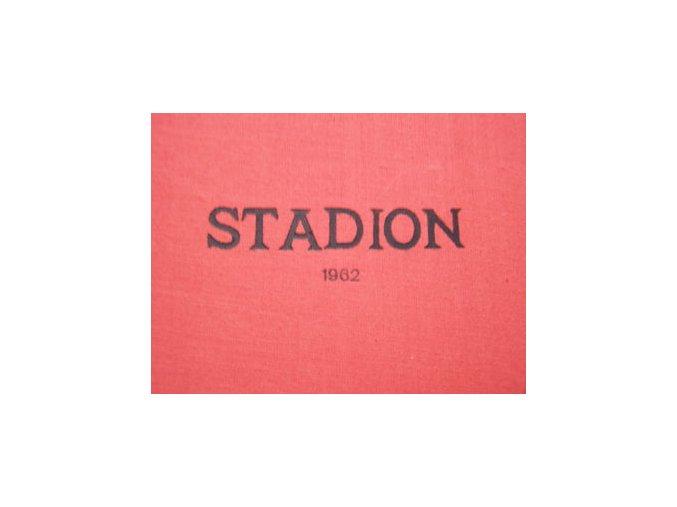 Kompletní svázaný časopis Stadion rok 1962 v tvrdé plátěnné vazbě