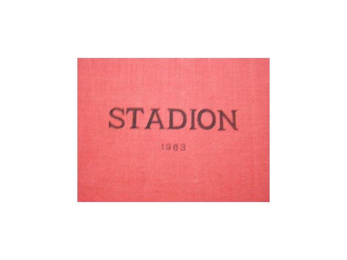 Kompletní svázaný časopis Stadion rok 1963 v tvrdé plátěnné vazbě