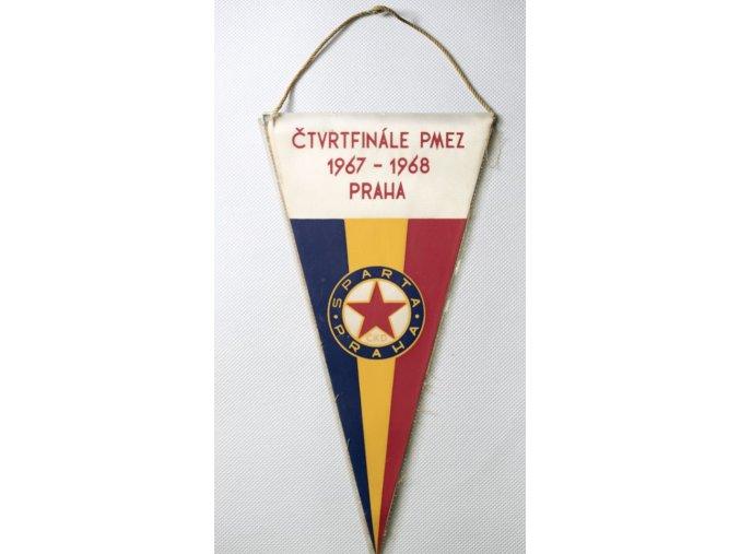 Vlajka klubová SPARTA PRAHA ČKD vs. REAL MADRID