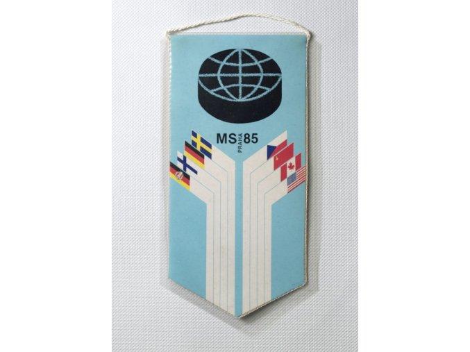 Klubová vlajka MS 1985 hokej Praha