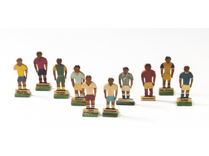 Dřevěné figurky I. fotbalová liga, 14 ks (1)