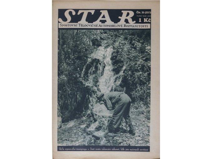 Časopis STAR, Idyla srpnového trempingu Č. 35 (337), 1932 1