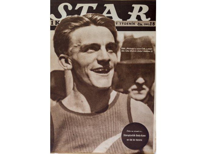 Časopis STAR, Hušek, vítěz Běchovic a mistr ČSR Č. 18 (581), 1937
