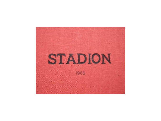 Kompletní svázaný časopis Stadion rok 1965 v tvrdé plátěnné vazb