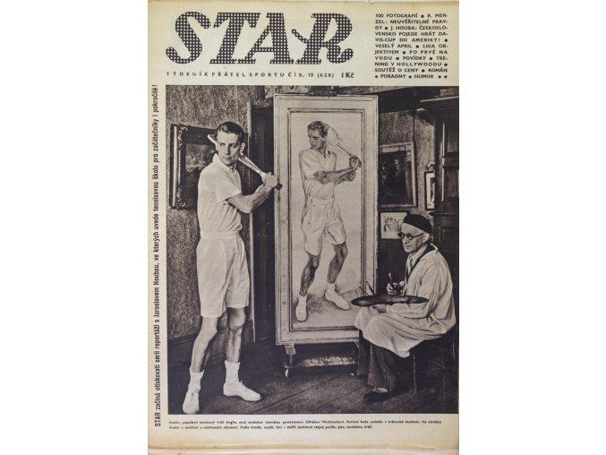 Časopis STAR, Austin, populární tenisový hráč Anglie Č. 13 ( 628 ), 1938 (1)