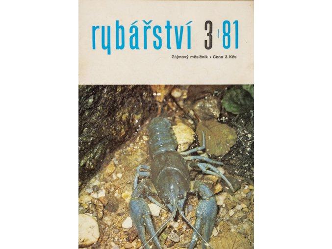 Časopis Rybářství, 31981