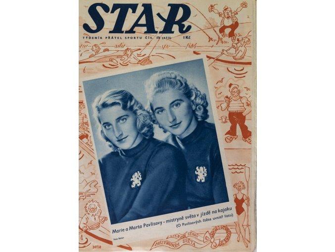 Časopis STAR, Marie a Marta Pavlisovy mistrně světa v jízdě na kajaku č. 38 ( 653 ), 1938