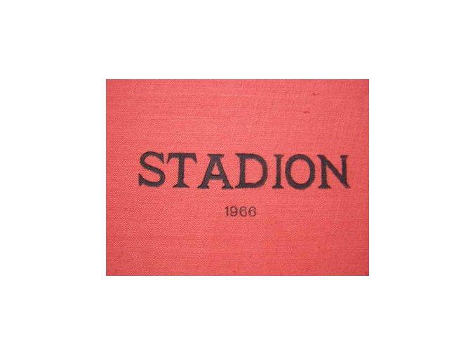 Kompletní svázaný časopis Stadion rok 1966 v tvrdé plátěnné vazbě