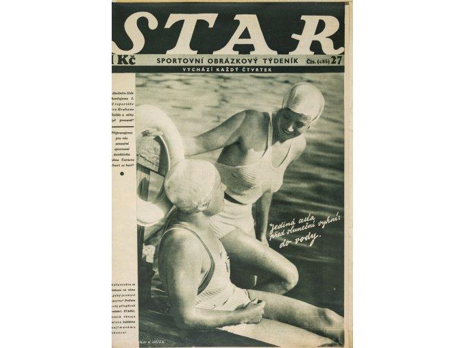 Časopis STAR,Jediná cesta před sluneční výhní Do vody. č. 27 ( 485 ), 1935 (1)