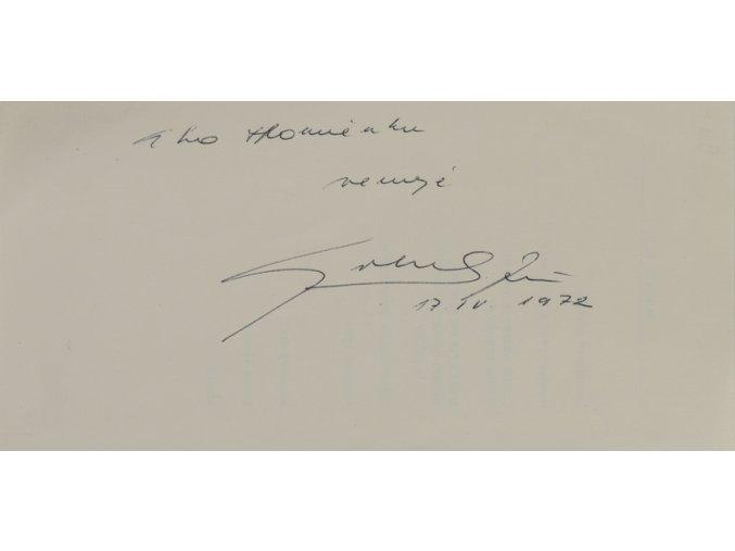 Podpisová karta, Jozef Golonka, 1972