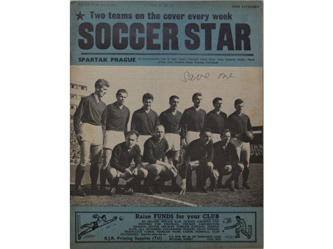 Časopis SOCCER STAR 1961 SPARTAK PRAGUE 1