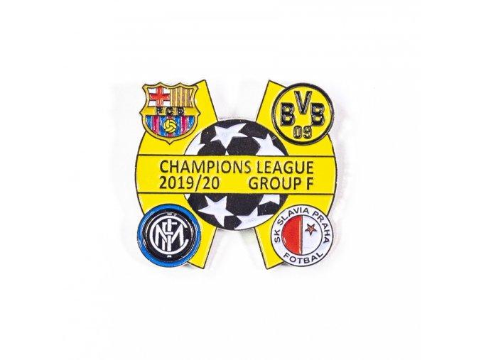 Odznak - Sada odznaků , UEFA Champions league, Group F 2019/20,  SIL/YEL/YEL