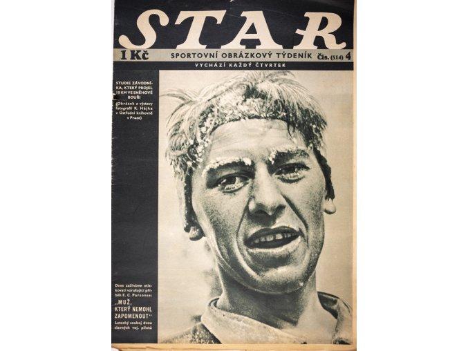 Časopis STAR Studie závodníka, který projel 18 km ve sněhové bouři. Č. 4 ( 514 ), 1936 (1)