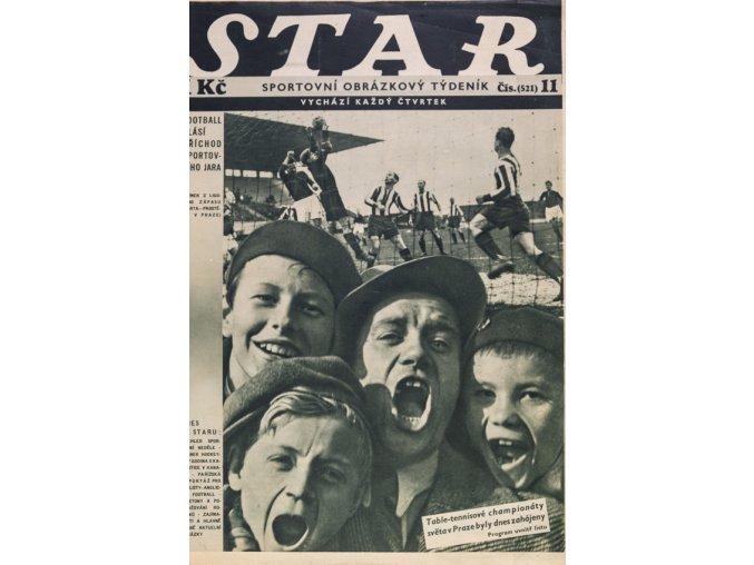 Časopis STAR Football hlásí příchod sportovního jara Č. 11 ( 521 ), 1936 (1)