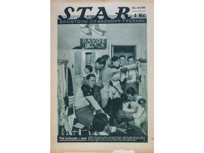 Časopis STAR Naši hockeysté v šatně Č. 46 ( 348 ), 1932 (1)