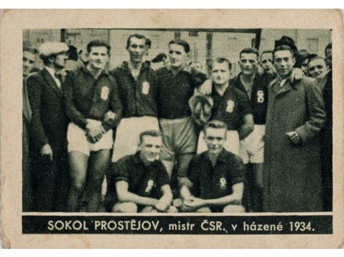 Kartička , Album sportovců, Sokol Prostějov, 1934, 63