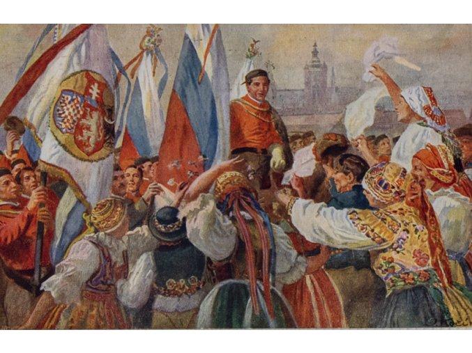 Dopisnice Sokol, VII. všesokolský slet v Praze 1920, DO J. Kočí (1)
