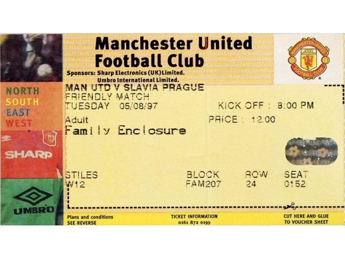 Vstupenka fotbal Manchester United vs. Slavia Prague