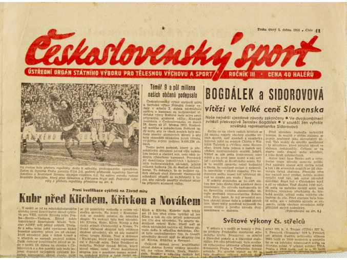 Noviny Československý sport, 411955 (1)