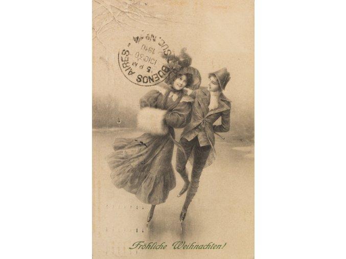 Pohlednice Krasobruslaři 1910