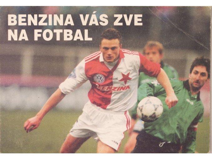 Pohlednice Slavia Praha Benzina vás zve na fotbal