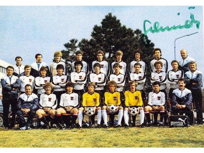 Pohlednice, Osterreichs nationalteam, podpis (1)