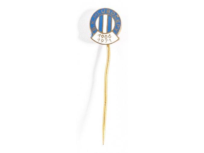 Odznak smalt SK Hlubočepy 1906 1971 (1)