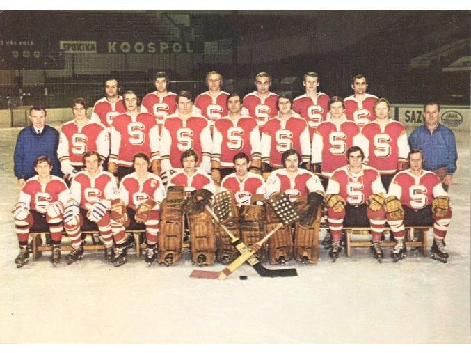 Pohlednice SPARTA PRAHA hokej 1973