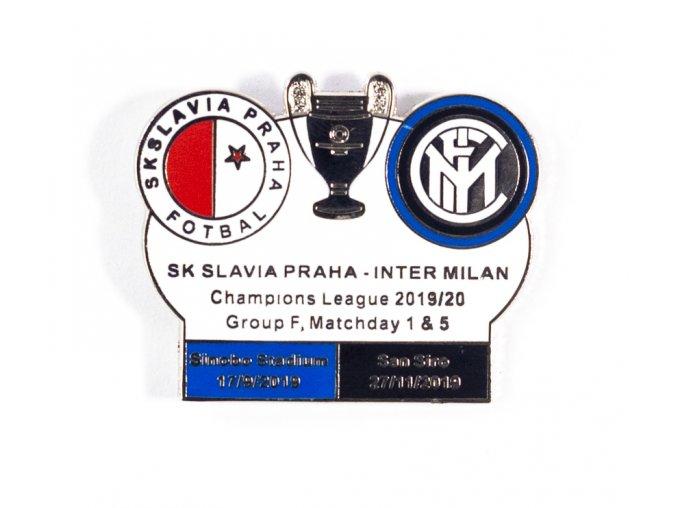Odznak UEFA Champions league, Group F 201920, Slavia v. Inter Milan WHIBLUBLK