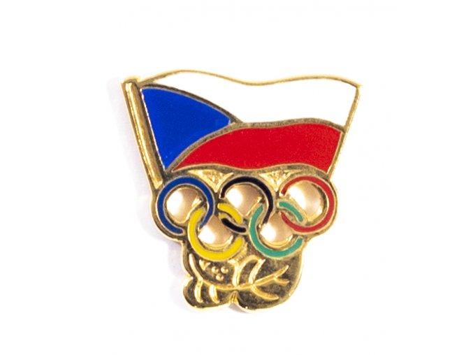 Odznak Czech Olympic team, vlajka velká (1)