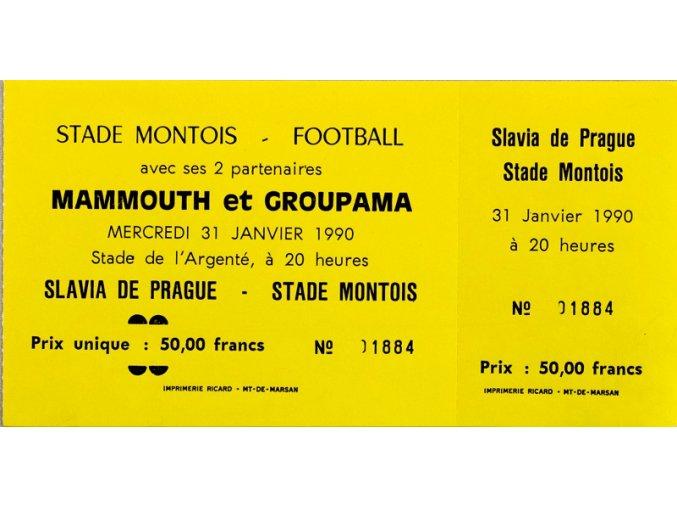 Vstupenka fotbal Stade Montois vs. SK Slavia Prague