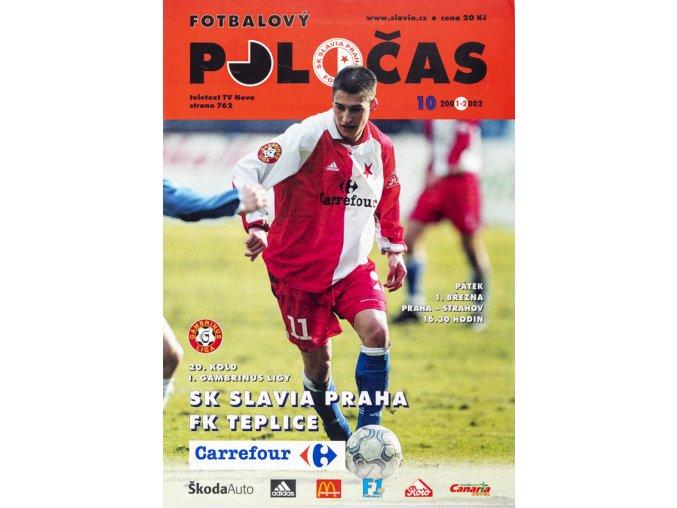Fotbalový POLOČAS SK SLAVIA PRAHA vs. FK Teplice, 2002