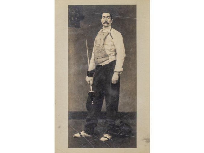 Dobová pohlednice, The Fencing Master, 1917 (1)