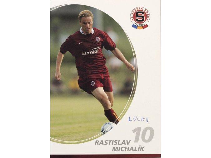 Kartička Rastislav Michalík 10 AC Sparta Praha